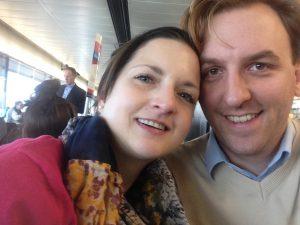 Selfie am Flughafen, auf dem Weg nach Las Vegas